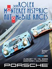 Porsche Gulf 917's 36th Rolex Monterey Historics 2009 Offical Event Car Poster