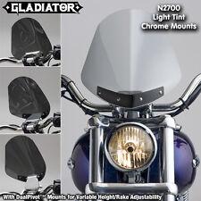 HARLEY XL883C SPORTSTER CUSTOM NC GLADIATOR WINDSHIELD LT TNT CROME MNTS N2708