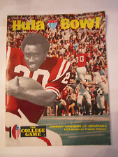 1973 HULA BOWL PROGRAM - JOHNNY RODGERS COVER AUTOGRAPH - HEISMAN WINNER - BN-2
