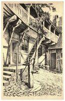 Aarhus Århus ~1940 Danmark Den gamle By Dänemark alte Postkarte Kunst-AK