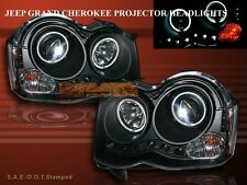 08-10 JEEP GRAND CHEROKEE DUAL CCFL HALO PROJECTOR HEADLIGHTS LED BLACK