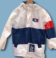 VTG Tommy Hilfiger Sailing XL USA Flag Logo White Red Blue Pullover Jacket