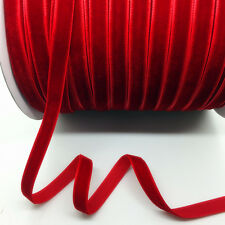 "New 5Yards 3/8"" 10mm Red Velvet Ribbon Clips Crafts Sew Clips Bow Decoration"