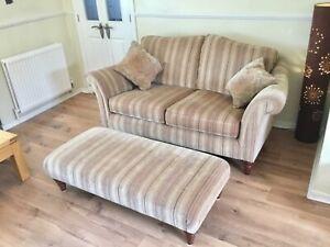 Parker Knoll 2 seater sofa & large footstool