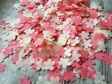 2 HANDFULS CORAL IVORY CHERRY FLOWER CONFETTI WEDDING DECORATION/THROWING/ECO