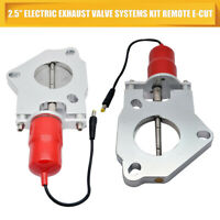 "2.5"" 63mm Electric Exhaust Downpipe E-CUT Cutout Valve Motor Remote Control"