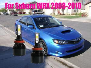 LED For Subaru WRX 2008-2010 Headlight Kit H11 6000K White CREE Bulbs Low Beam