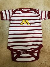 University of Minnesota Baby Bodysuit- Newborn-  maroon and white stripe