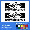 2x BMW Motorrad Piston Vinyl Decal Sticker Autocollant Pegatina Aufkleber