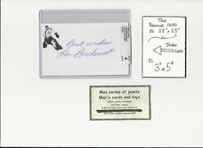 Len Broderick Montreal Canadiens AUTOGRAPH AUTO INDEX HOCKEY CARD 100% COA