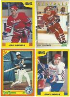 1989-90 ERIC LINDROS Rookie Cards - Score Hockey & Baseball & 7th Inning Sketch