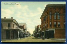 Baton Rouge Louisiana la Third Street view old postcard