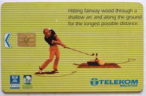Malaysia Used Telekom Phone Card : Golf