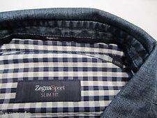 Zegna Sport Jeans Hemd  XXL,43-44 SF  DENIM + KARO       189 €   6536