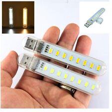 Portable Courant USB Lampe Led 8 Leds Eclairage Ordinateur Veilleuse Bonne Hot