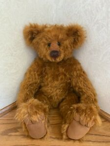 "16 Inch Imported Mohair Bear ""Big Red"" by ""Bear My Sole"" Jo O'Hanlon OOAK"