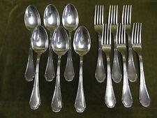 6 couverts de table métal argenté Ercuis Trianon  (dinner forks, soup spoons) c
