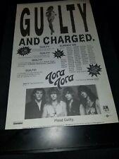 Tora Tora Guilty Rare Original Radio Promo Poster Ad Framed! #3