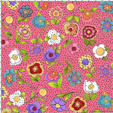 Fabric  Pink Big Blossoms 692-173  Loralie Designs Blossom bty new