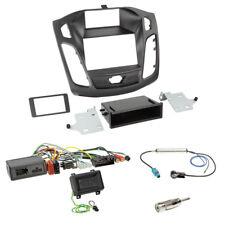 Clarion Lenkrad Adapter+FORD FOCUS DYB ab2011 Doppel-DIN Radio Blende+Fach+Fakra