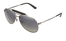 GUCCI WOMEN'S SLIM GRADIENT AVIATOR SUNGLASSES, BLACK