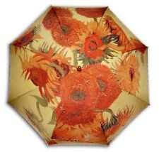 "Gogh ""Sunflower"" painting long size automatic umbrella"