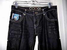 Ladies COOGI Jeans- 9/10, black  Chic distressed & patches Super cool detailing!