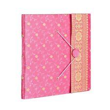 Fair Trade Handmade Large Pink Sari Photo Album, Scrapbook 2nd Quality