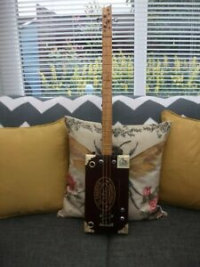 3 STRING HOMEMADE FRETTED ACOUSTIC/ELECTRO CIGAR BOX GUITAR