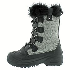 Cold Front Ladies' Snow Lodge Winter Boot 6 BLK/GRY Free 2-3 Day Shipping NIB