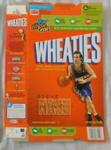 Steve Nash Phoenix Suns Wheaties Cereal Box 12 oz