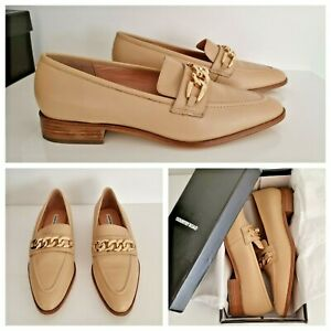 NEW COUNTRY ROAD Loafers [41 42 EU] Leather Shoes, Beige & gold, Women's RP$179