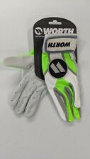 Worth Batting Gloves Neon Green Large New Softball Slow Pitch L