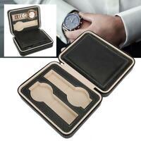 2 Gritter Uhrenbox Uhr Uhren Etui Reise Uhrenkasten Uhrenkoffer PU Leder ♤