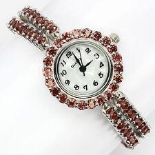 _LDN_Splendide Montre Bracelet Grenat Mozambique _Argent 925
