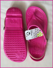 Crocs - Womens Flip Thongs With Strap - Ladies Sizes 4 to 8 Choose Colour - W 5 Hot Pink