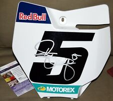RYAN DUNGEY Signed Red Bull #5 Front Number PLATE *JSA COA - SX MX Tomac