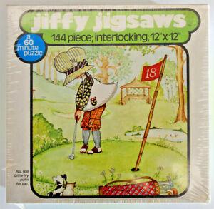 """Vintage 1976 Little Ivy Putts for Par Golf Jigsaw Puzzle 144 pieces 12""""x12"""" NEW"""