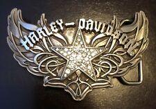 "HARLEY DAVIDSON BLING BELT Buckle ""CHROME STAR W RHINESTONES"" 97703-09VW"