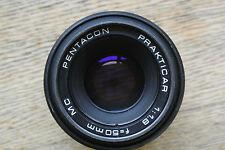 Pentacon Prakticar 50mm 1:1.8 MC Practica B  mount Lens