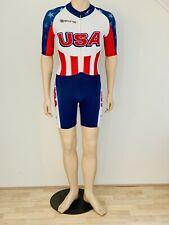 Skate suit, skinsuit, skin suit, speedsuit, size M, blue/ red, USA Skins,