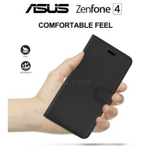 Cover Case for Asus Zenfone 4 Portfolio IN Leather Black Leather Case