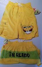 NWT Spongbob Swimsuit Swim Trunk Shorts Boy Bathing suit Size S FREE SHIPPING