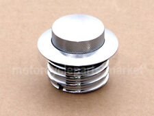 Flush Pop Up Reservoir Gas Cap Vented Fuel Tank For Harley Touring Bike Chrome