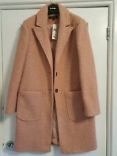 Miss Selfridge, Pink Coat, Size 10, Brand New With Tags