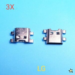 3X LG Aristo 2 LM-X210 SP200 X212 Dock Connector MicroUSB Charger Charging Port