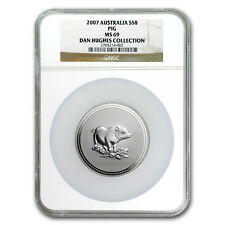 2007 Australia 5 oz Silver Year of the Pig MS-69 NGC