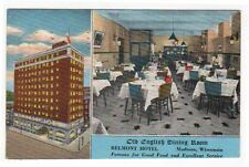 Madison, Wisconsin, Views of The Old English Dining Room, Belmont Hotel, 1947