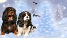 Cavalier King Charles Spaniel Christmas Labels No 7 by Starprint