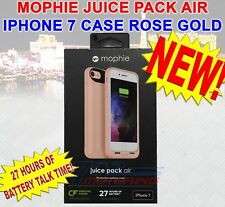 NEW MOPHIE JUICE PACK AIR BATTERY CASE iPHONE 7 & 8 ROSE GOLD - 27 HOUR BATTERY